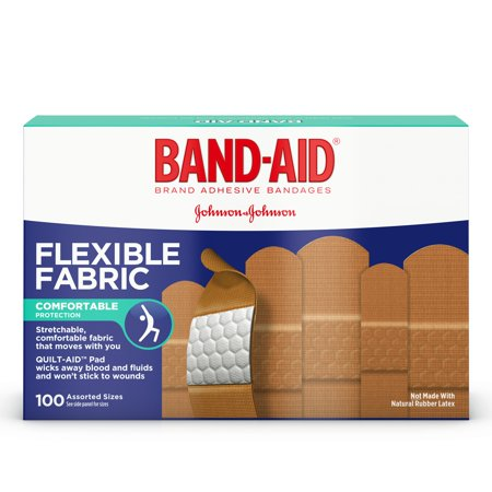 (Band-Aid Brand Flexible Fabric Adhesive Bandages, Assorted Sizes, 100 ct)