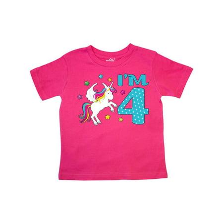 I'm Four- Unicorn 4th Birthday Toddler