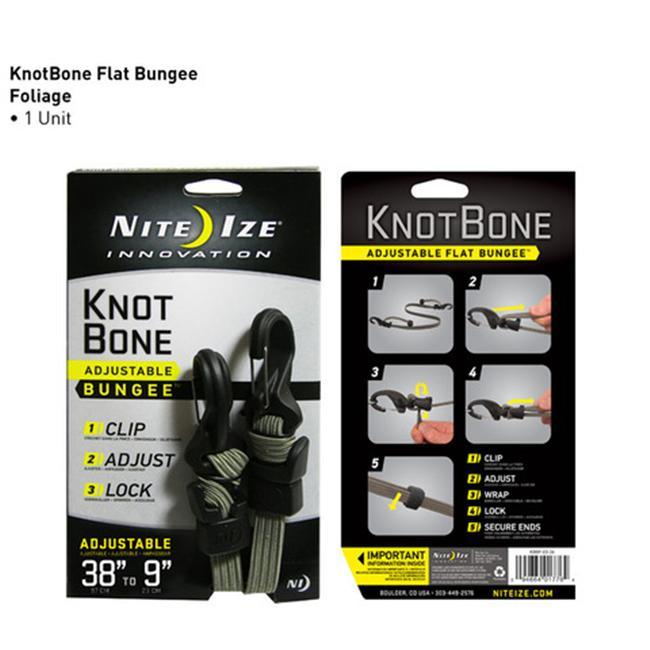 Nite Kbbf0326 Knotbone Flat Bungee - Foliage Green