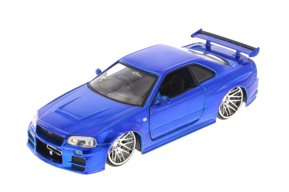 Fast & Furious Brian's Nissan Skyline GT-R, Candy Blue Jada Toys 97217 1 24 Scale Diecast... by Jada