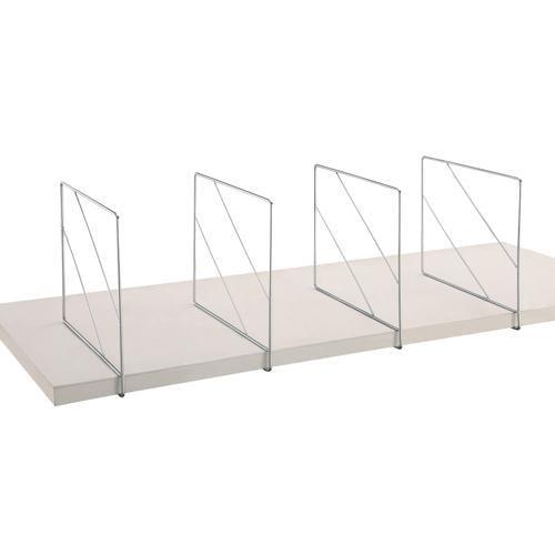 Shelf Divider - Set of 2, Chrome