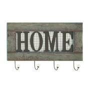 Benzara Striking Wood Metal Home Wall Hook