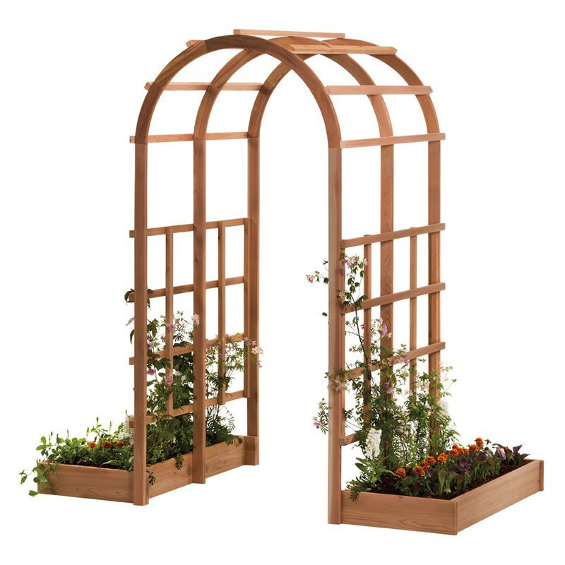 Arboria Tunnel 7-ft. Cedar Arch Arbor