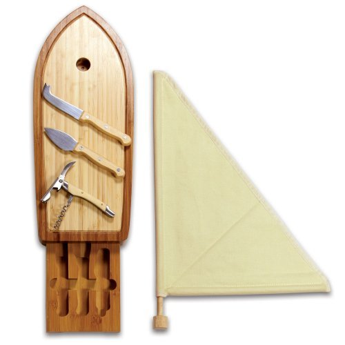 Picnic Time Sailboat-Cutting Board with Tools