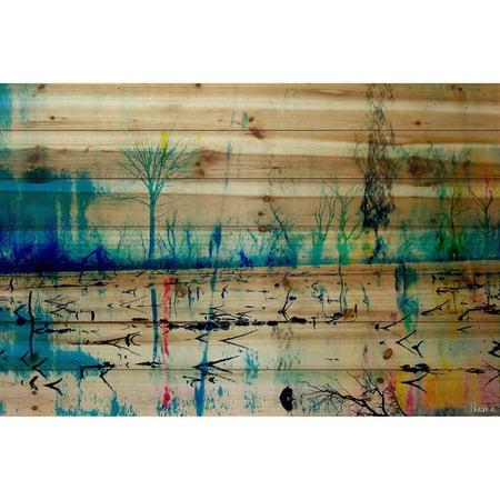 Parvez Taj Morrison Lake Art Print on Natural Pine Wood