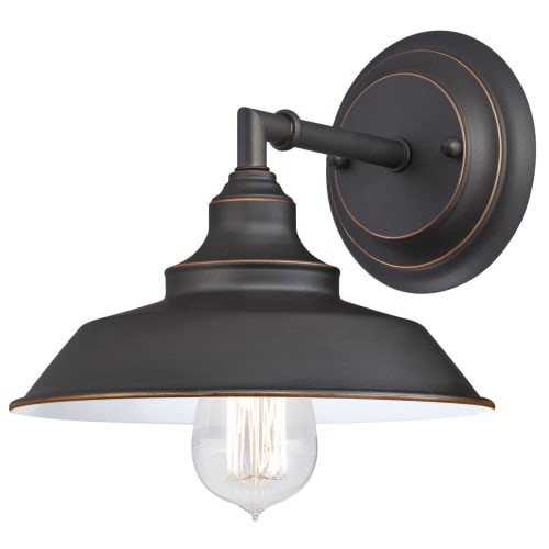 """Westinghouse 6343500 Iron Hill 3-Light 8-11/16"""" Wide Bathroom Sconce"""