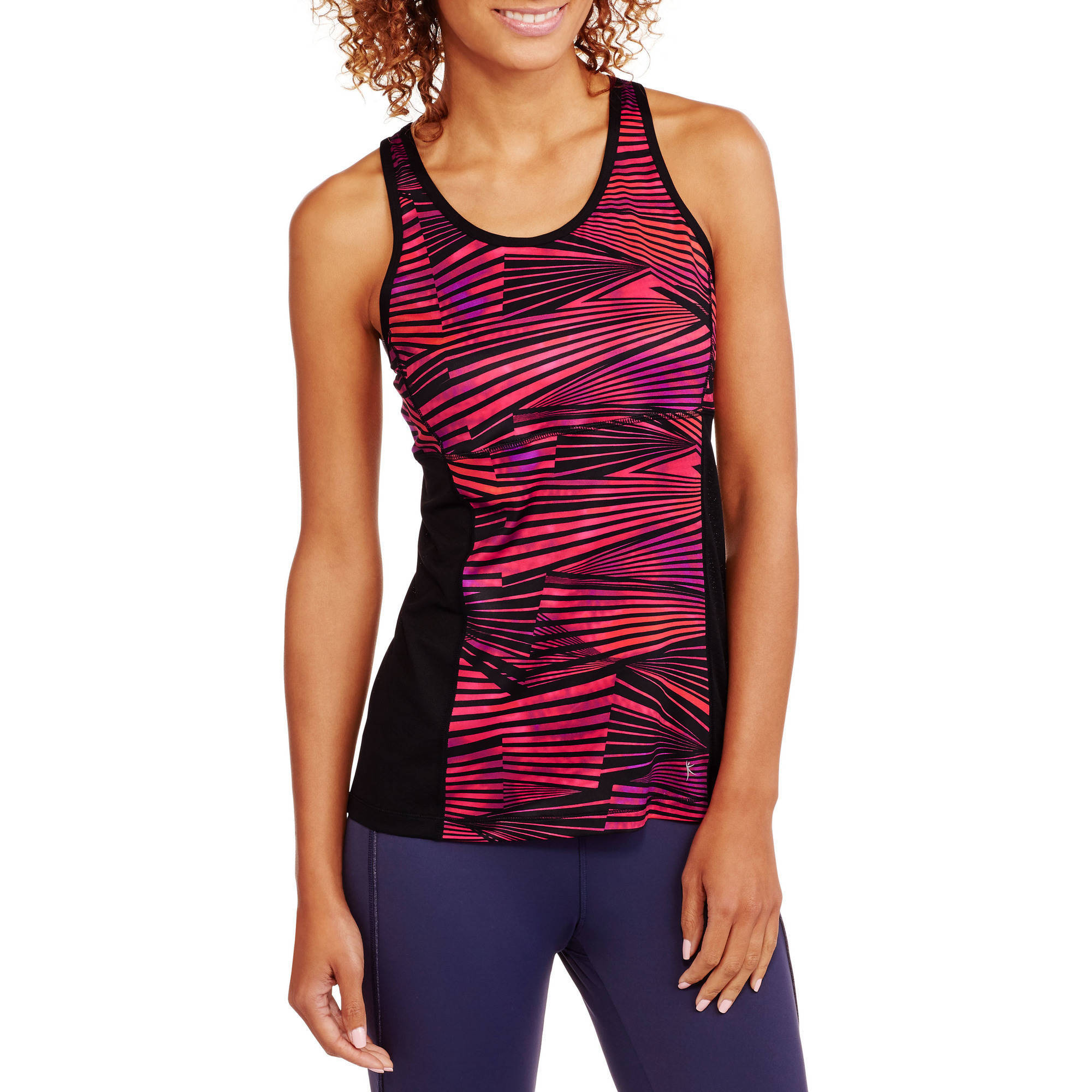 Danskin Now Women's Active Mesh Vented Tank with Strappy Back