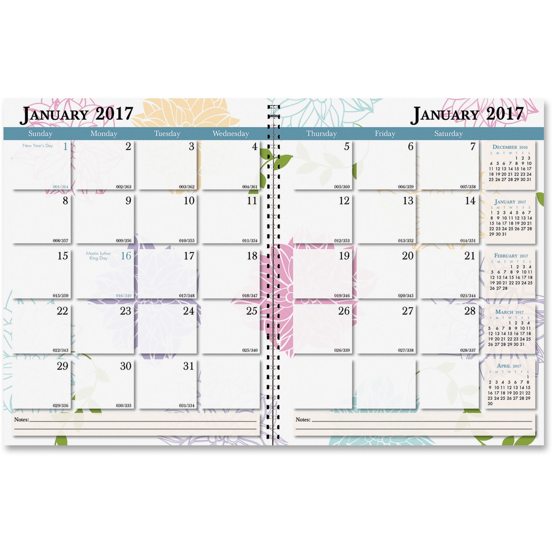 House of Doolittle Whimsical Floral Monthly Planner