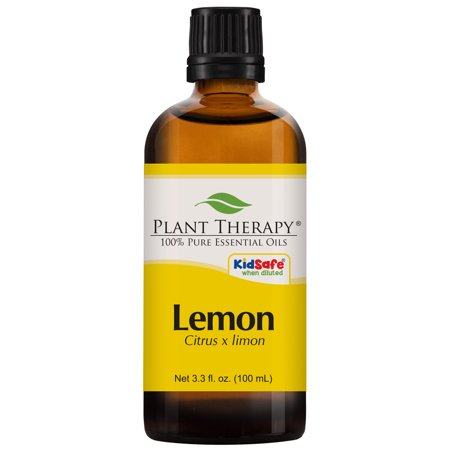 Plant Therapy Lemon Essential Oil | 100% Pure, Undiluted, Natural Aromatherapy, Therapeutic Grade | 100 mL (3.3