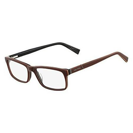 461870f4372 Nautica Eyeglasses N8085 200 Dark Brown 52 17 140 - Walmart.com