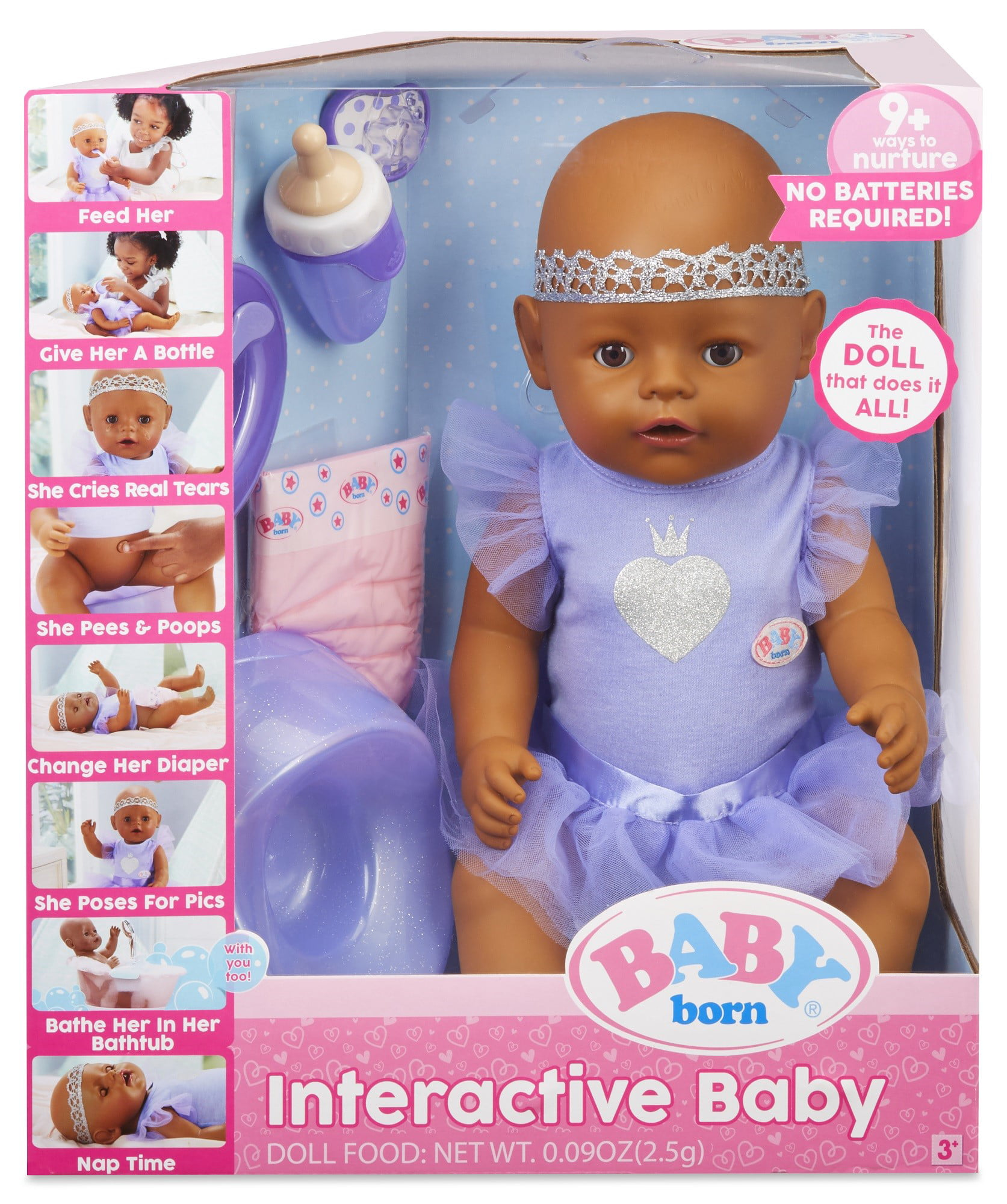 BABY born Interactive Baby Doll- Dark Brown Eyes by MGA Entertainment