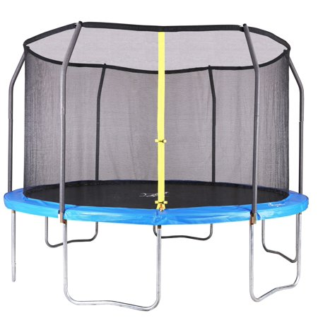 Airzone Jump 12-Foot Trampoline, with Enclosure, Blue (Box 1 of 2)