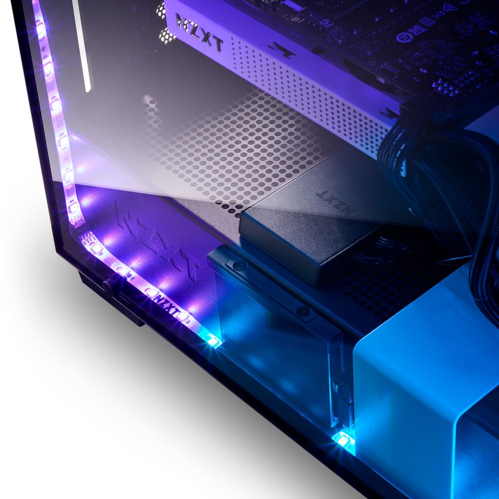 NZXT RGB Lighting Kit AC-HUEP2-M1 Four Magnetic LED Strips Advanced PC Lighting System Quad-Channel Support