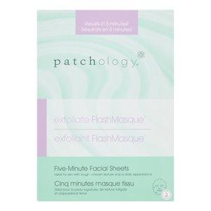 Patchology Exfoliate FlashMasque Facial Sheets, 4 Ct