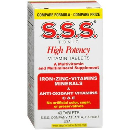 SSS SSS Tonic  Vitamin Tablets, 40 ea