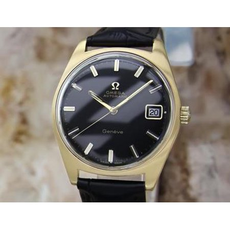Omega Geneve Swiss Made Gold Plated Mens 1970s Vintage Automatic Watch LV86