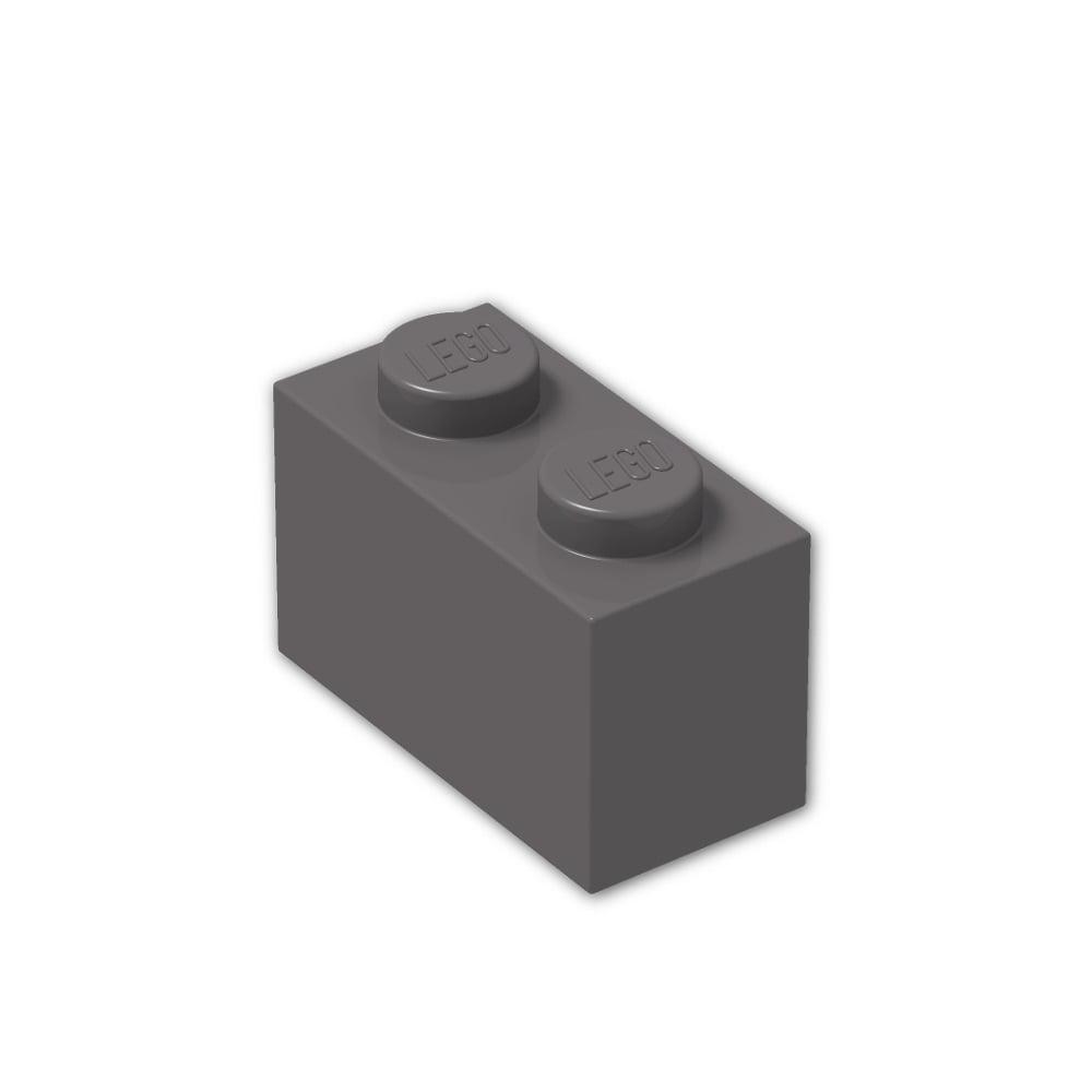 New Lego Lot of 25 Dark Bluish Gray 1x2  Flat Building Plate Pieces