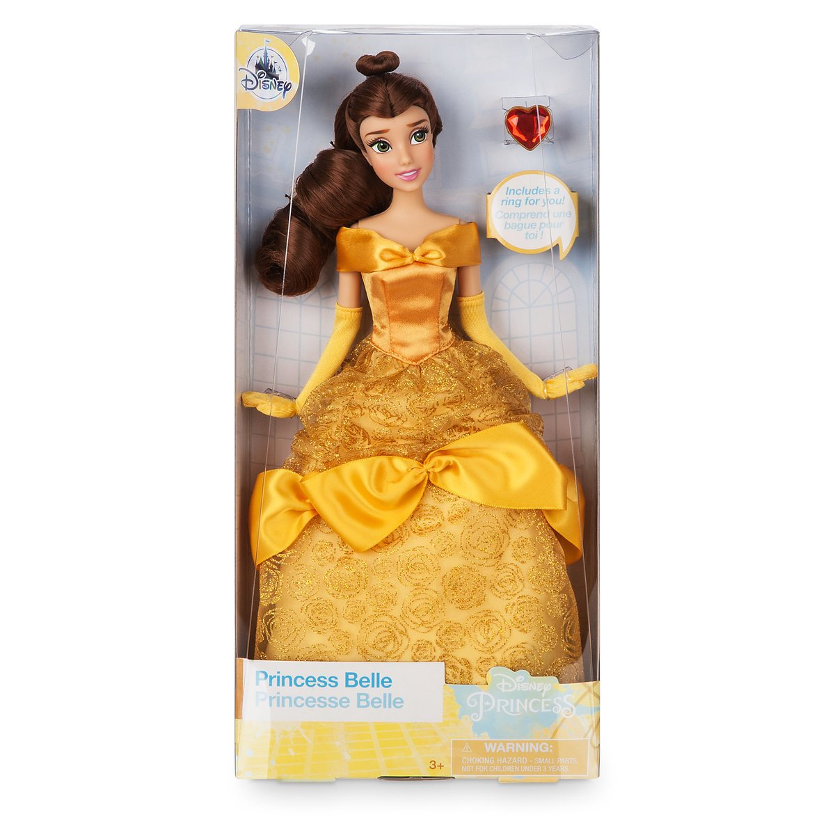 Disney Princess Belle Classic Doll with Ring New with Box