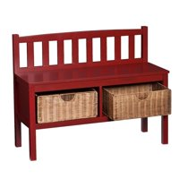 Southern Enterprises Storage Bench in Red