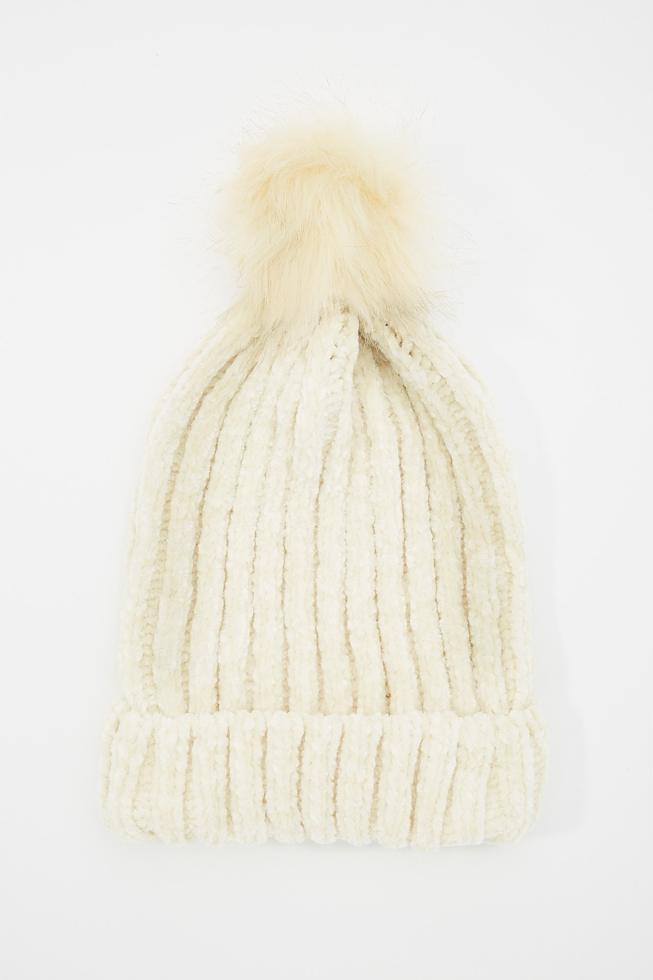 Urban Planet Women s Chenille Knit Faux-Fur Pom Pom Toque 119de1bd6