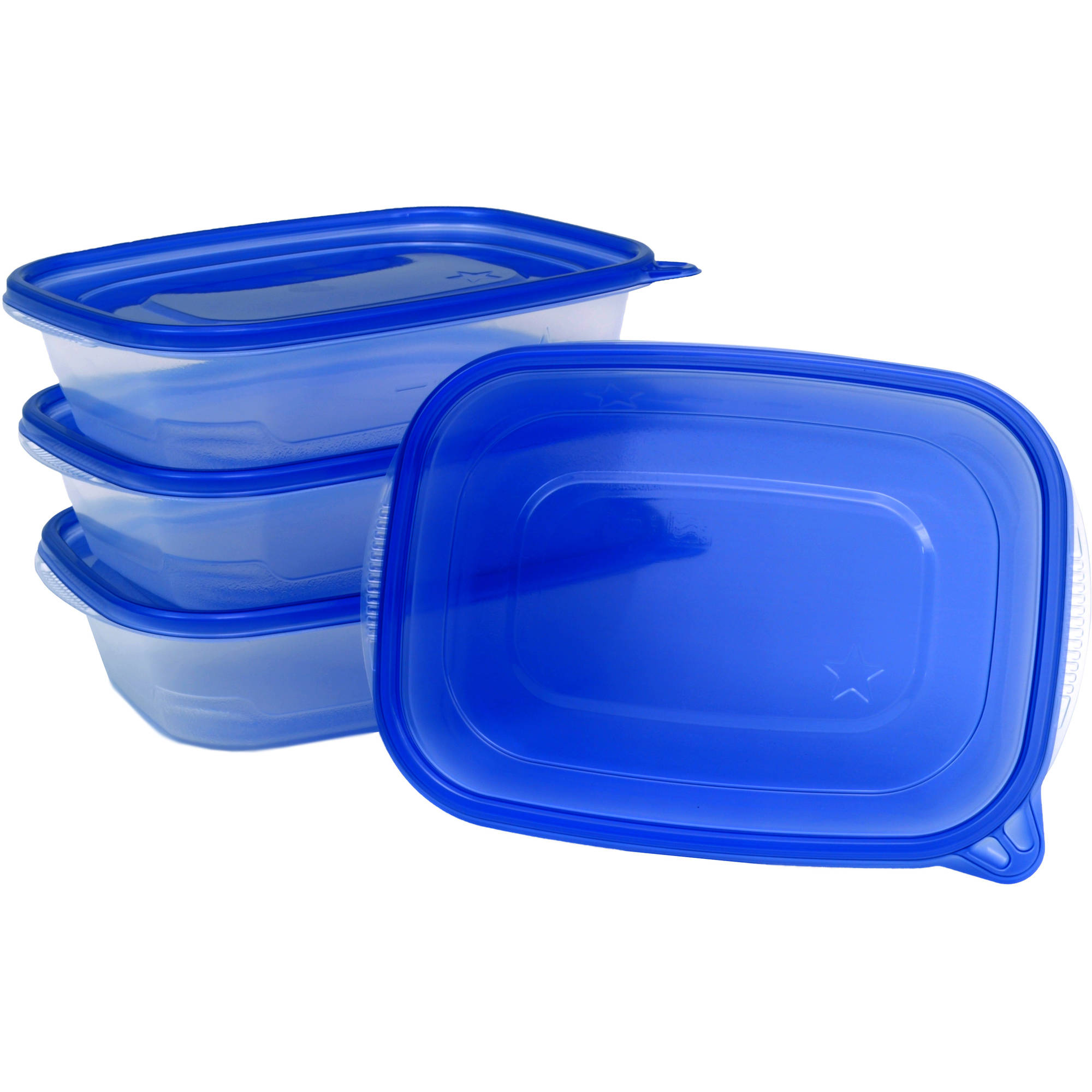 Great Value Large Entree Storage Containers, 32 fl oz, 4 count