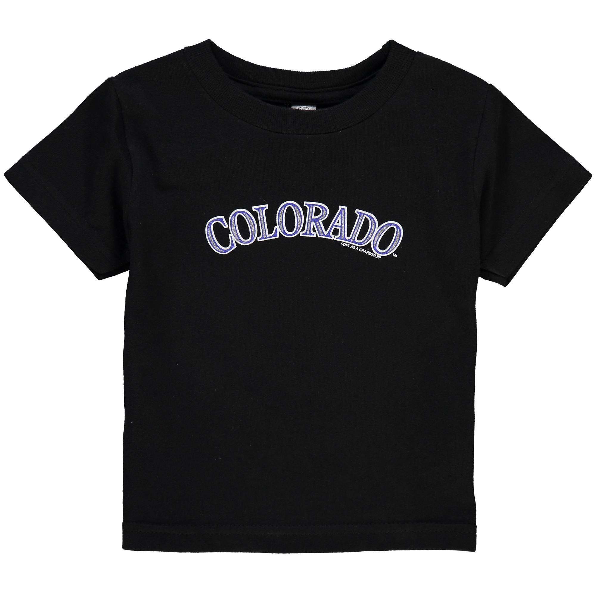 Colorado Rockies Soft As A Grape Toddler Tiny Fan Wordmark T-Shirt - Black