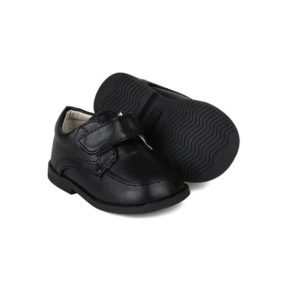 50fbd35bd Auston - Auston AH58 Leatherette Velcro Strap School Dress Shoe ...