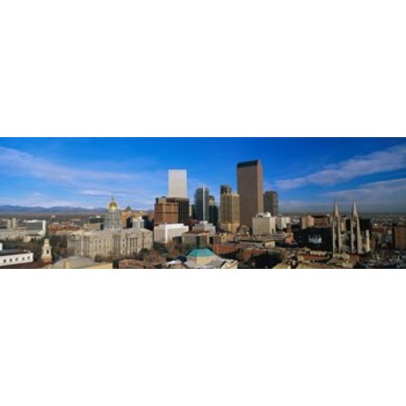 Denver Co Canvas Art   Panoramic Images  18 X 6
