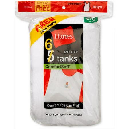 Boy's Tagless Tank Shirts, 5 + 1 Bonus Pack ()