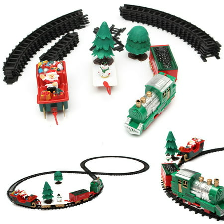 20-Piece Battery Operated Christmas Musical Express Train Carriages Tree Headlight Tracks Playset Fashion Funny Birthday Gift Kids Toy Christmas Decoration Christmas Decor Gift - image 6 of 8