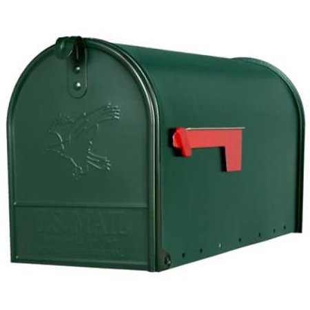 Royal Mailbox (The Elite Green Galvanized Large Size T2 Rural Mailbox Post)