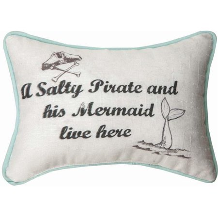 Manual Woodworkers & Weavers SWSPLH 12.5 x 8.5 in. A Salty Pirate Lives Here Word Pillow - image 1 de 1