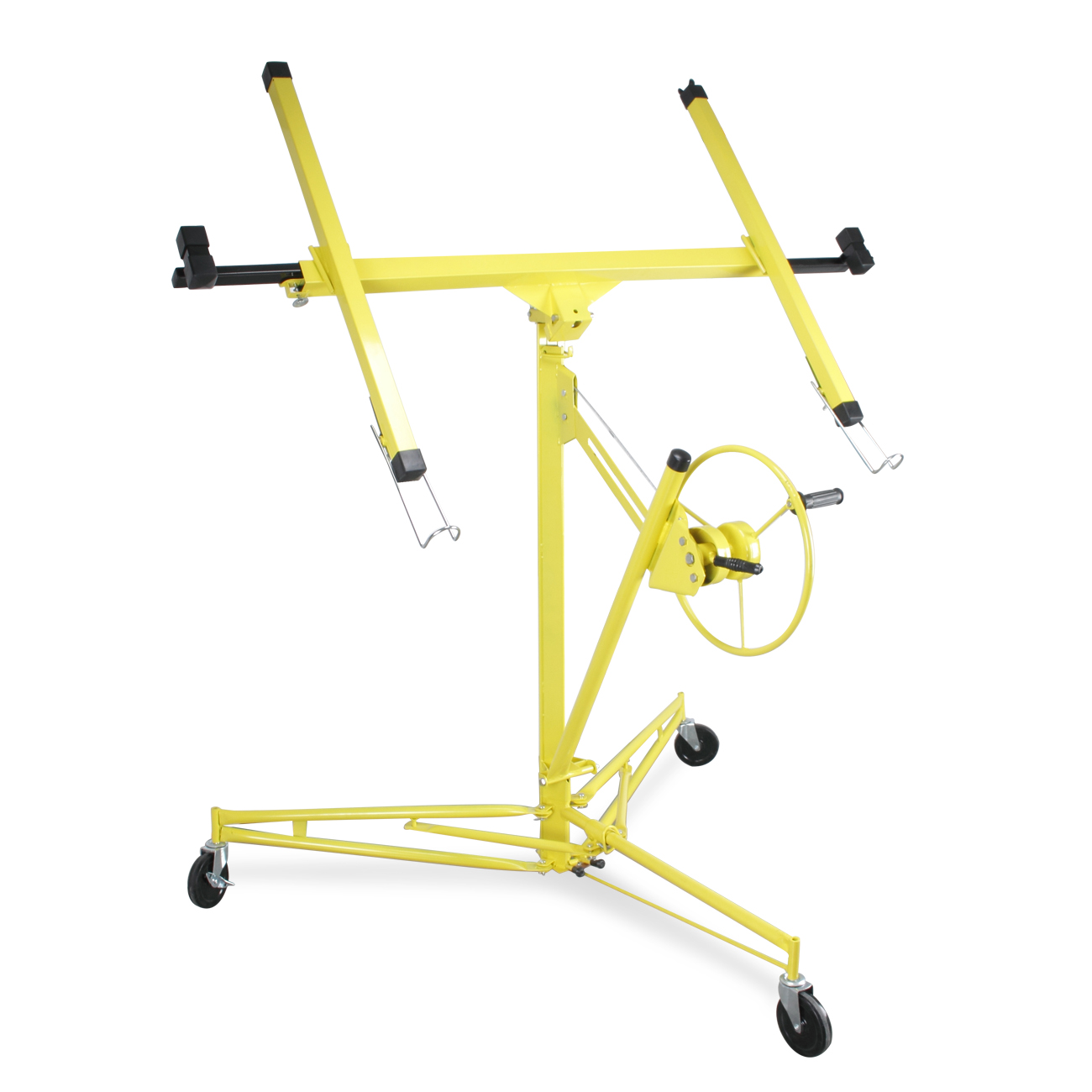 ARKSEN Adjustable Drywall Panel Lift Dry Wall Panel Hoist Lockable Lifter Ceiling Max 11ft, Yellow by ARKSEN