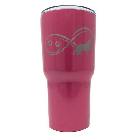 Tsc Powder Coated German Shepherd Infinity Love Engraved Tumbler 30 Hot Pink
