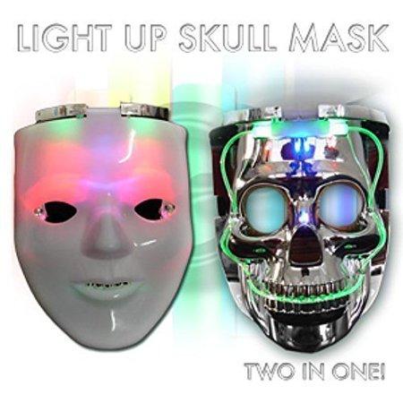 LED Light-Up Blank Man/Skull Mask-Unique 2 in 1 rave mask