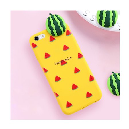 3e87092483 Made for Apple iPhone 8 Plus / 7 Plus / 6S Plus / 6 Plus 3D TPU Case,  [Watermelon on Yellow] Slim & Flexible Anti-shock Crystal Silicone  Protective TPU Gel ...