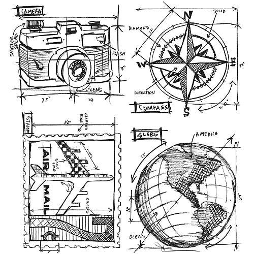 Tim Holtz Cling Rubber Stamp Set