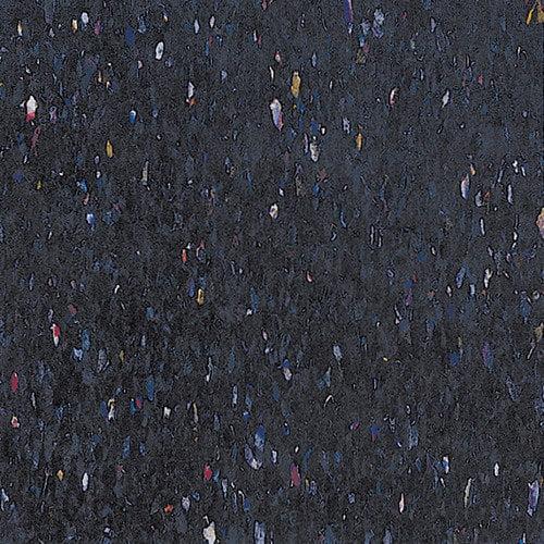 Congoleum Alternatives 12'' x 12'' Vinyl Tile in Confetti Black
