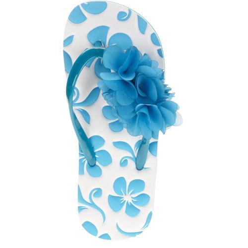 OP Girls' Flower Flip Flop Sandals