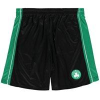 Boston Celtics Majestic Big & Tall Birdseye Shorts - Black/Kelly Green