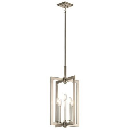 Classic Five Light Pendant - Pendants 5 Light With Classic Pewter Finish Steel Drum Candelabra Base 14 inch 300 Watts