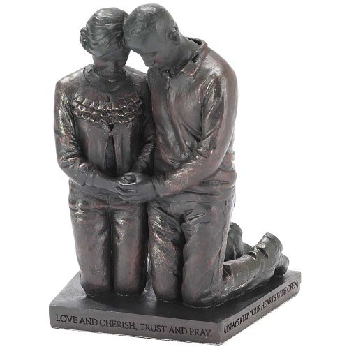 Husband and Wife Praying Figurine
