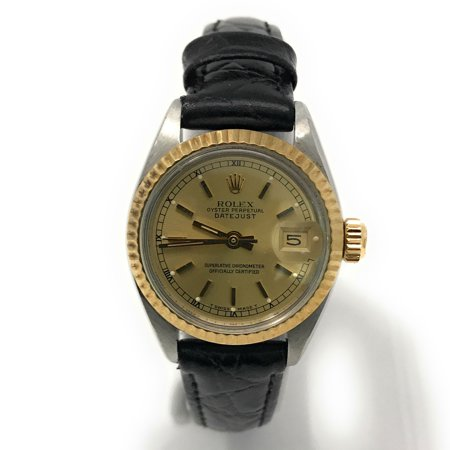 Datejust 6917 Champagne Stick dial and a Yellow Gold Fluted Bezel (Certified Pre-Owned)