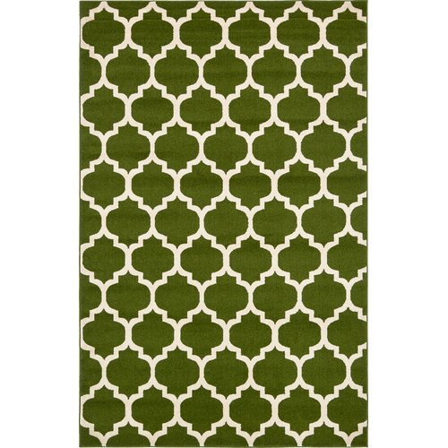 Charlton Home Moore Green/Beige Area Rug