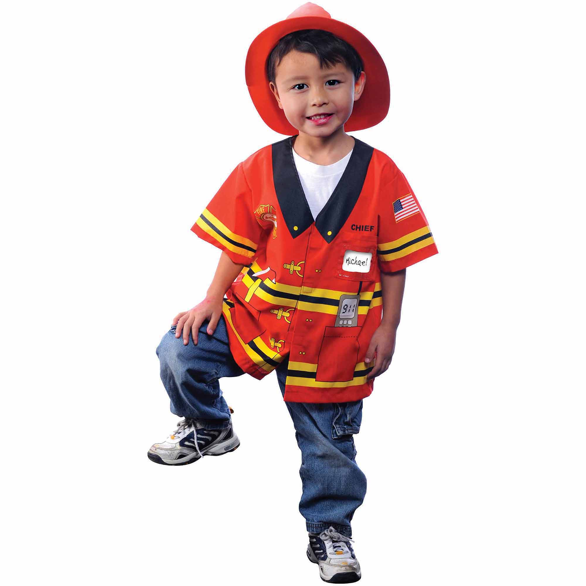 my first career gear firefighter toddler halloween costume size 3t4t