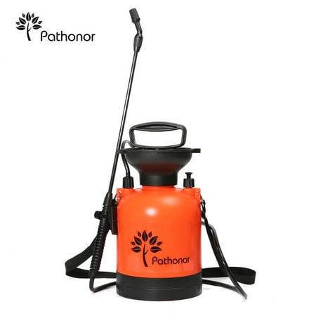 PATHONOR Super Garden Sprayer, 4L/1 Gal Pressure Sprayer weed Sprayer with 22 inch Wand and 51 inch hose for Fertilizer Herbicides Pesticides (Auto Pressure Sprayer)