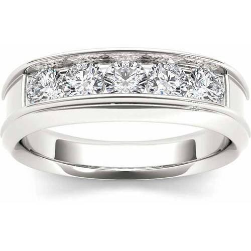 Imperial 1 Carat T.W. Diamond Men's 14kt White Gold Ring
