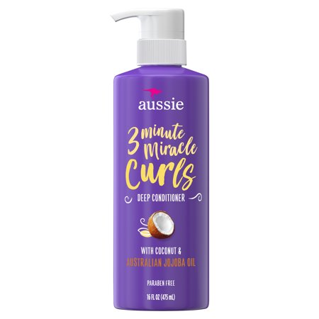Aussie Paraben-Free Miracle Curls 3 Minute Miracle Conditioner w/ Coconut, 16 fl oz