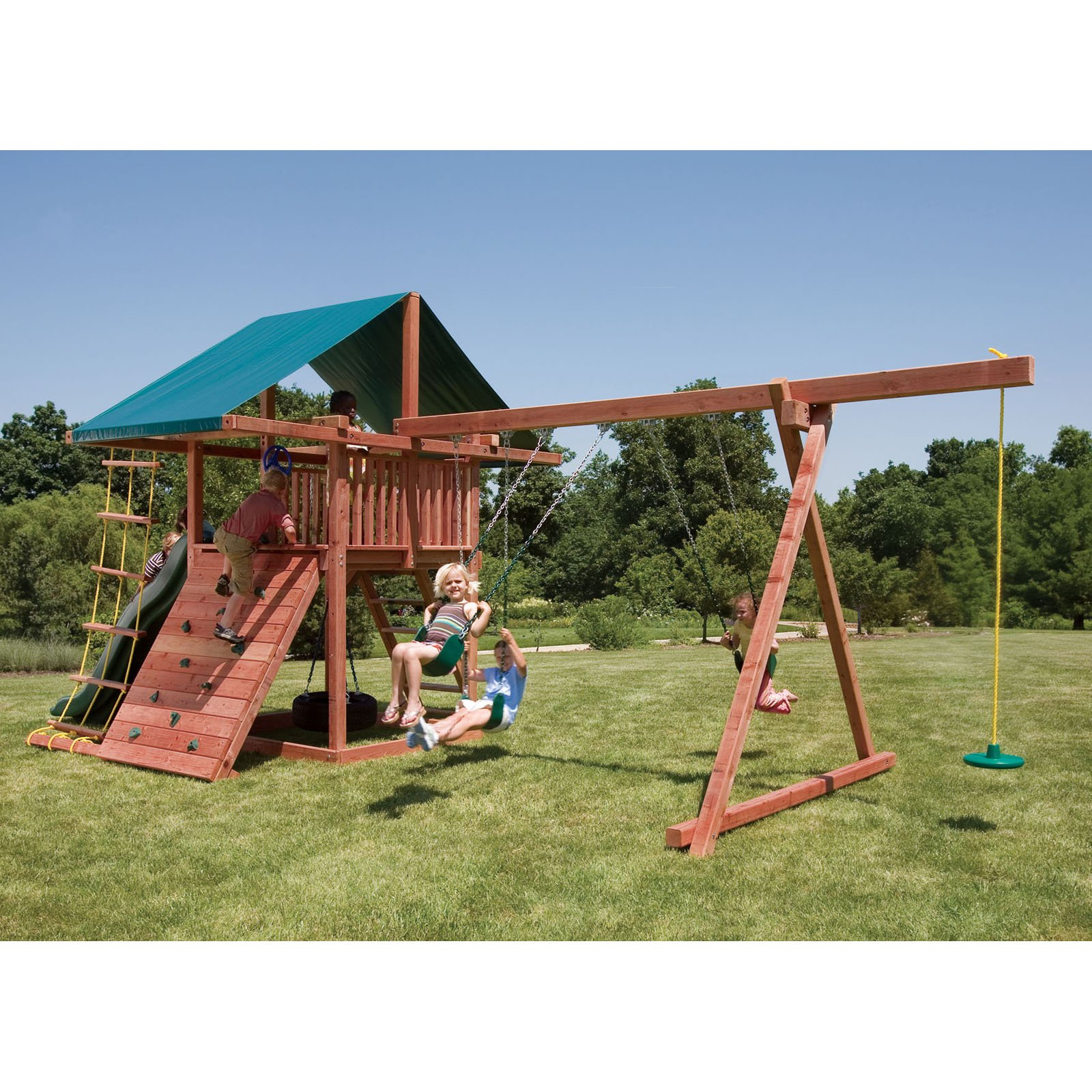 Kids Creations Three Ring Adventure Redwood Playset