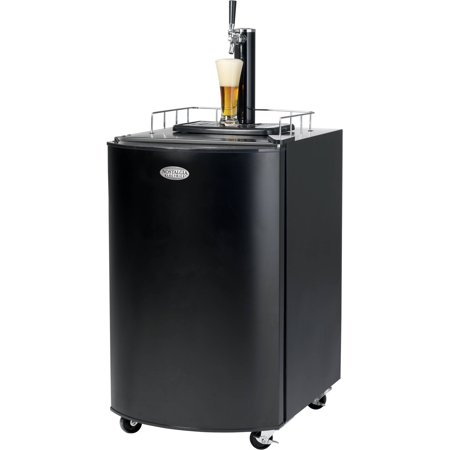 Nostalgia Electrics KRS2100 Black Kegorator, Full-size 1/2 Barrel Beer Keg Fridge with Wheels